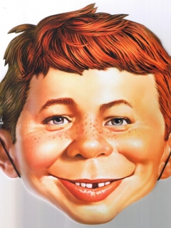 Go to Cardboard Mask Alfred E. Neuman from Comic Con 2012 • USA
