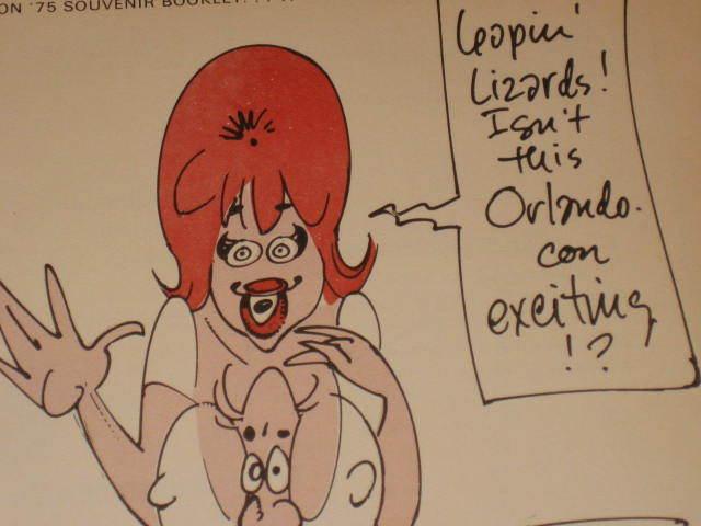 Souvenir Booklet Orlando Con 1975 w/ Harvey Kurtzman Cover Art • USA