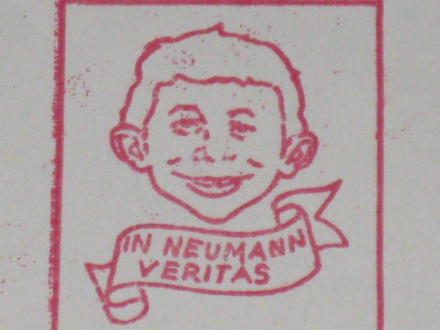 Stamp Return Mailing Address Alfred E. Neuman • Germany