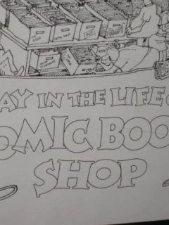 Go to Poster Sergio Aragonés Comic Book Shop Signed • USA
