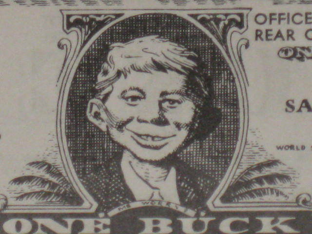 1959 Alfred E. Neuman / National Car Rental 'One Buck' Certificate MAD • USA
