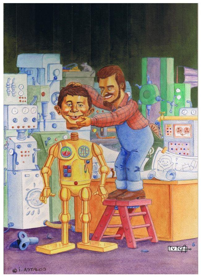 Original Cover of German MAD Book: Das MAD-Buch der Technik #21 • Germany