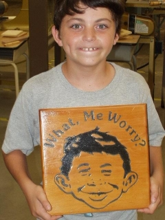 Go to Wood Sign Alfred E. Neuman • USA