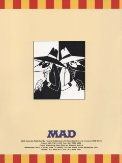 Ad Sheet 'Spy vs. Spy' • Australia
