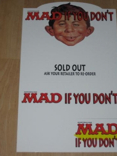 Countertop Display Sign MAD Magazine • Australia