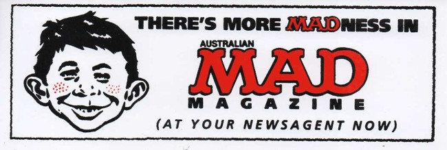 Sticker MAD Promotional 'There is more MADness in Australian MAD' • Australia
