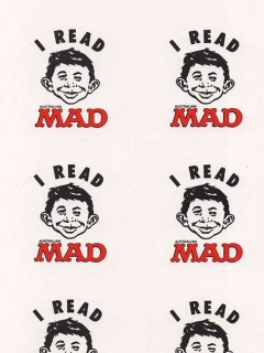 Go to Sticker Sheet 'I Read MAD' 1990 • Australia