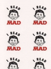 Image of Sticker Sheet 'I Read MAD' 1990