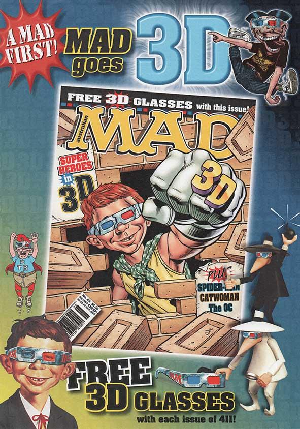Promotional flyer for Australian MAD 411 • Australia
