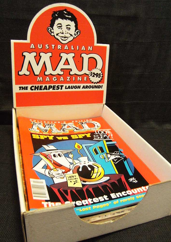Display box for MAD magazines • Australia