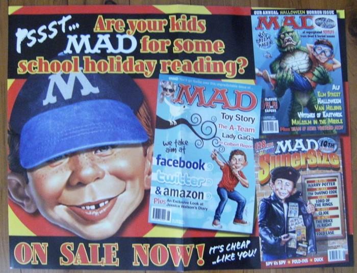 Promotional Poster MAD Newsagent • Australia