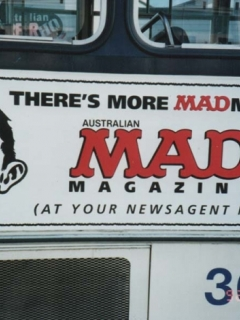 Go to Promotional Bus Sticker MAD External • Australia