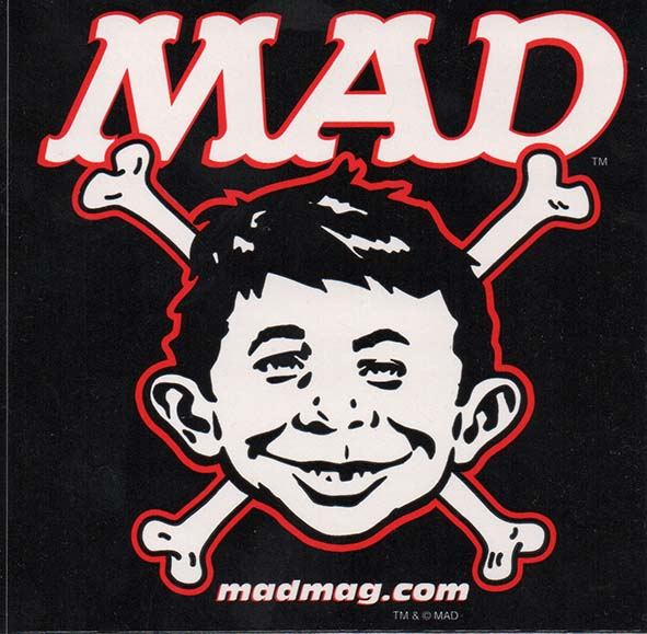 Bones Sticker Alfred E. Neuman • USA