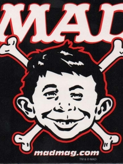 Go to Bones Sticker Alfred E. Neuman • USA