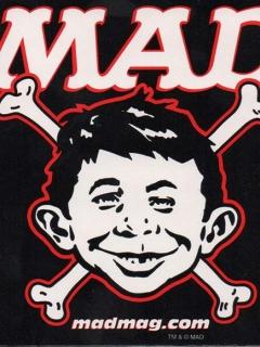 Go to MAD Alfred E. Neuman Bones Sticker