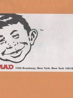 Go to MAD Envelope Sticker • USA