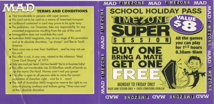 MAD 'School Holiday Pass' Promo • USA
