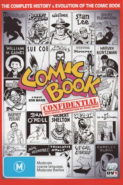 Comic Book Confidential postcard with AEN on cover • USA