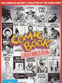 Go to Comic Book Confidential postcard with AEN on cover • USA