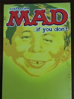 Go to MAD newsagent promo card