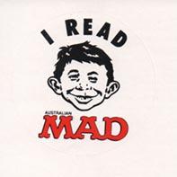 Sticker 'I Read MAD' 1990 • Australia