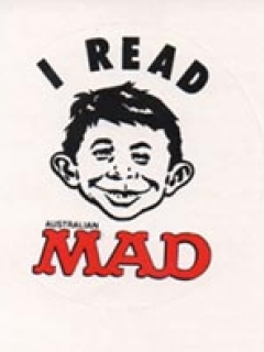 Go to Sticker 'I Read MAD' 1990 • Australia