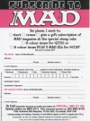 Image of Subscription Card MAD Magazine