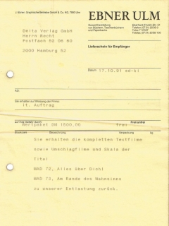 Go to Delivery note of draft material for German paperback No.72 & 73 • Germany