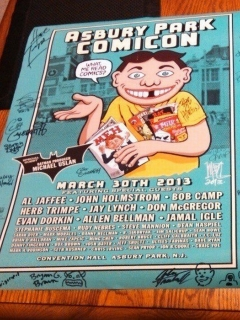 Go to Asbury Park Comicon Promotional Poster with Alfred spoof • USA