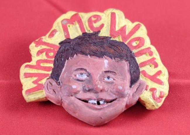 What, me worry! Alfred E. Neuman Pinback Button • USA