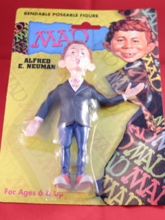 Alfred E. Neuman Bendable Figure (Certified MAD) • USA