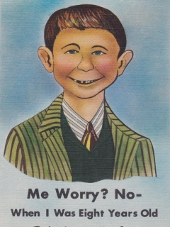 Postcard Bob Adamciks Cafe - Me Worry? No - ... • USA
