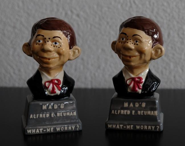 2 Alfred E. Neuman Salt & Pepper Shakers • USA
