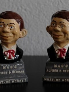 Go to 2 Alfred E. Neuman Salt & Pepper Shakers • USA