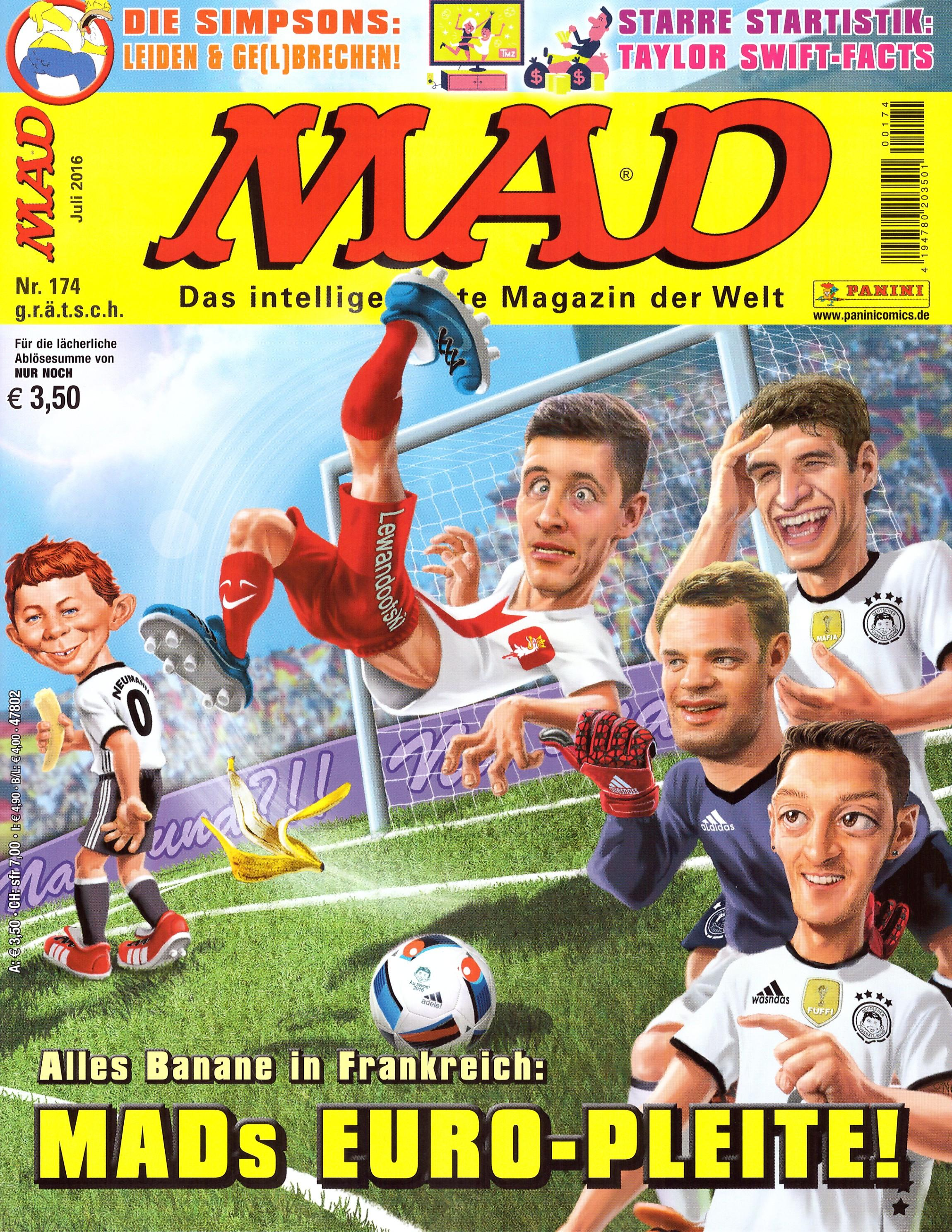 MAD Magazine #174 • Germany • 2nd Edition - Dino/Panini