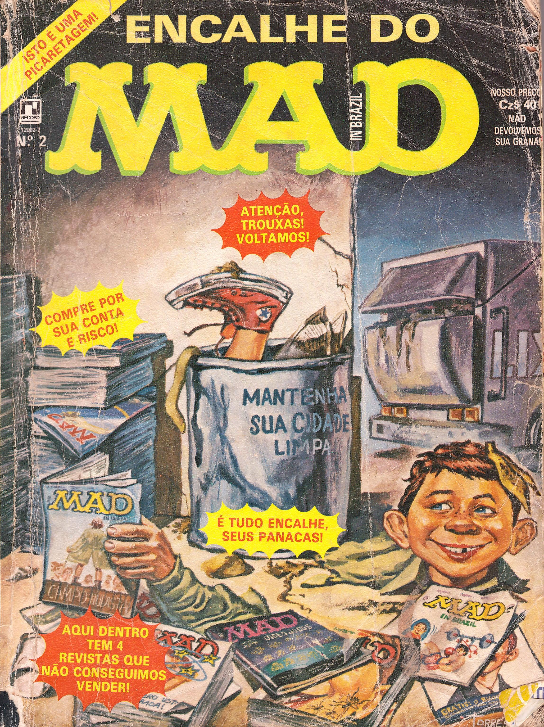 Encalhe do MAD (Record) #2 • Brasil • 2nd Edition - Record