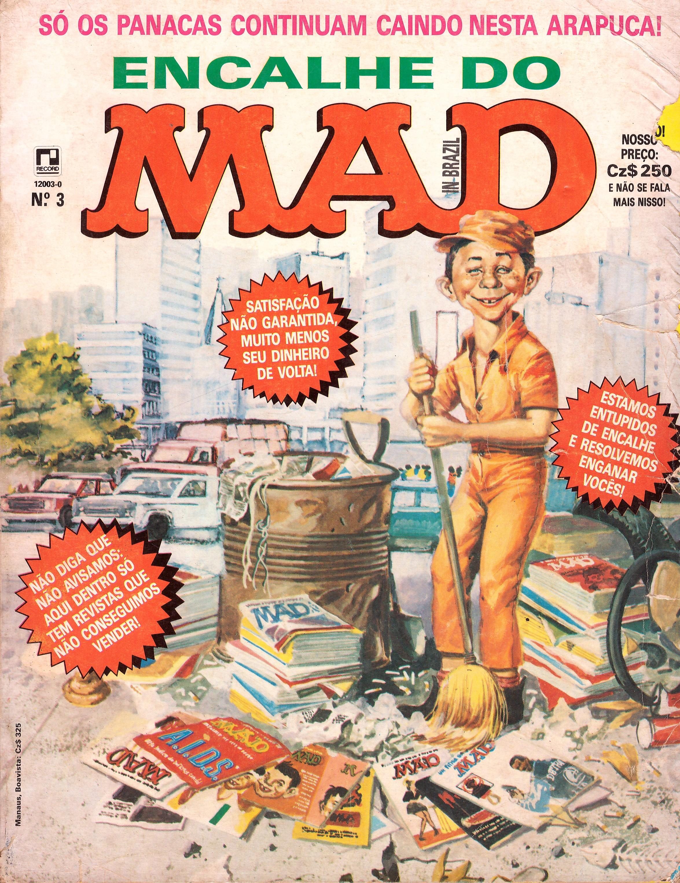 Encalhe do MAD #3 • Brasil • 2nd Edition - Record