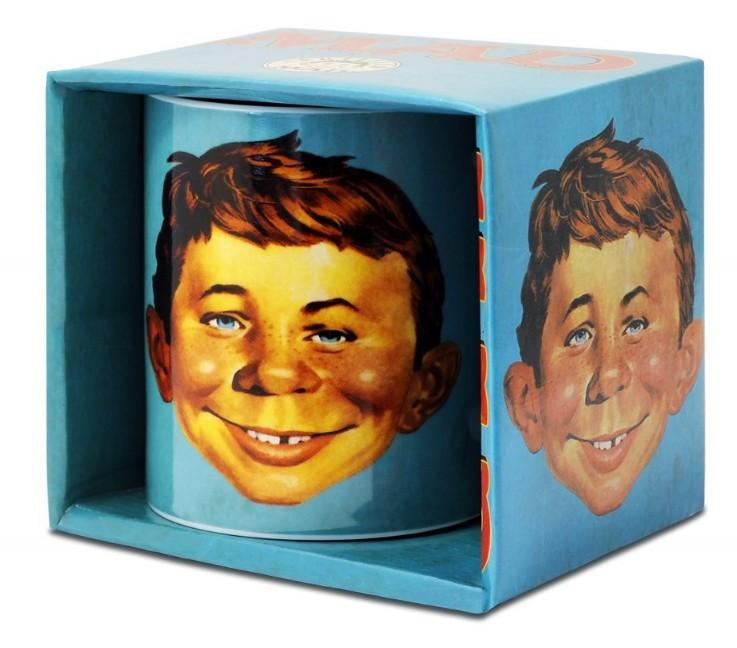 Turquoise Certified MAD Alfred E. Neuman Coffee Mug with box • Germany