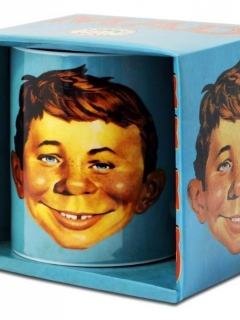 Go to Turquoise Certified MAD Alfred E. Neuman Coffee Mug with box • Germany