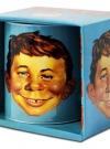 German Turquoise Certified MAD Alfred E. Neuman Coffee Mug with box Manufactor: Logoshirt Textil GmbH & Co KG Original price: € 9.99