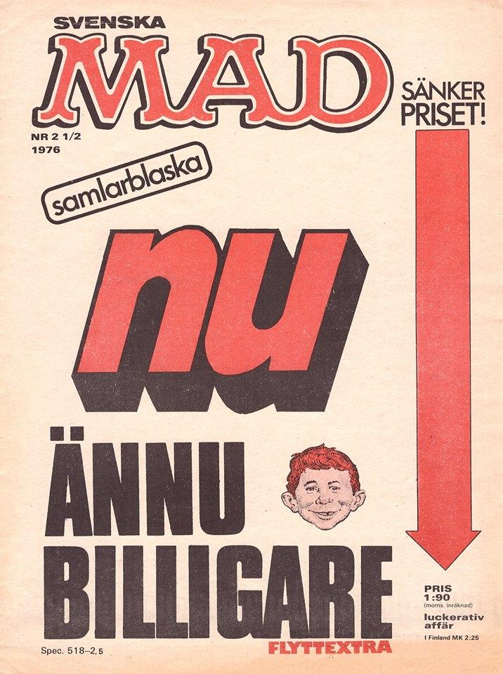 MAD Magazine #2.5 1975 • Sweden