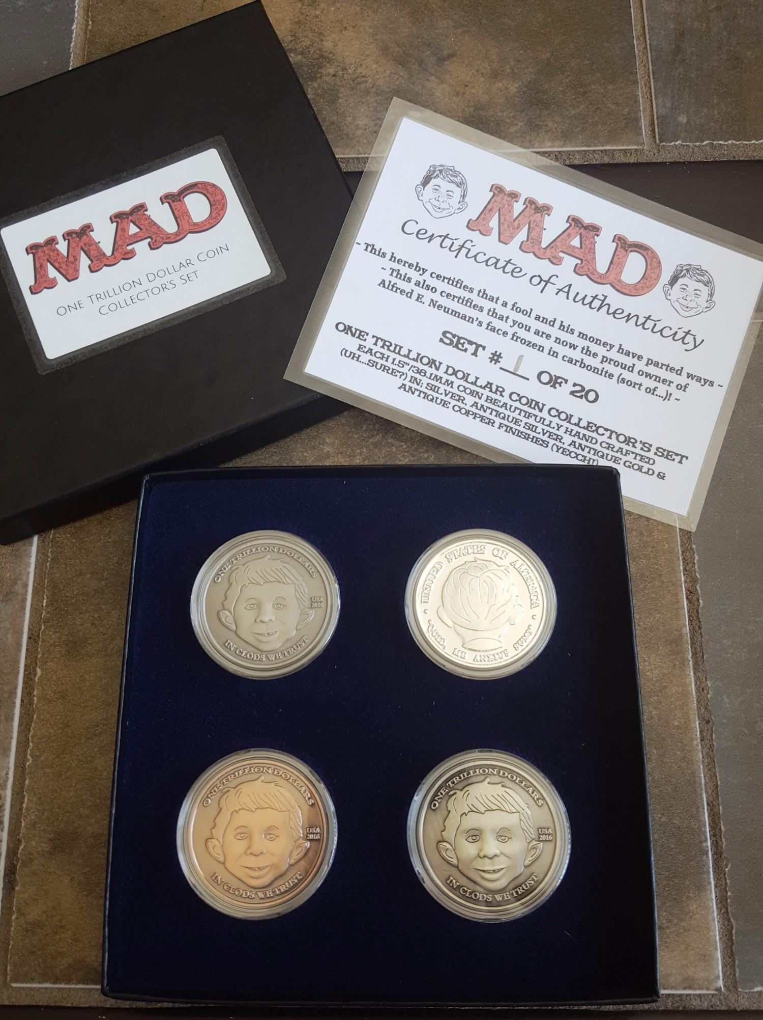 One Trillion Dollar Coin Collector's Set • USA