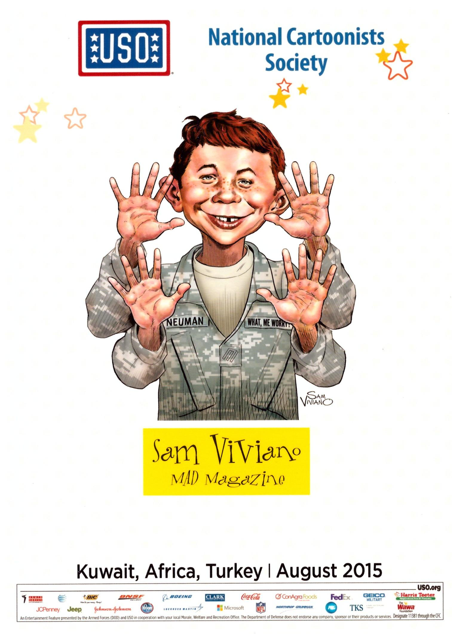 National Cartoonists Society Sam Viviano Promotional Card • USA