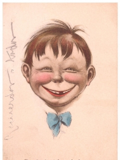 Go to Postcard Pre-MAD Alfred E. Neuman Face • USA