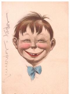 Go to Pre Alfred E. Neuman Face Postcard