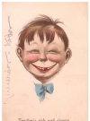 Image of Postcard Pre-MAD Alfred E. Neuman Face