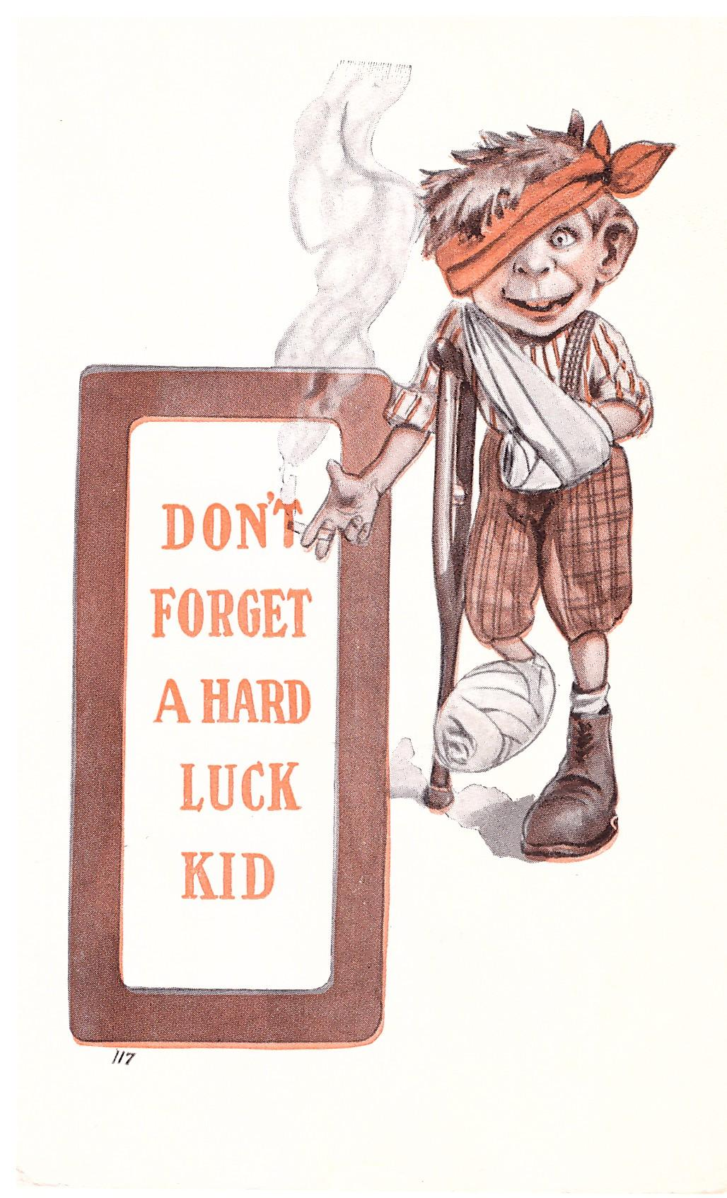 "1910's MAD MAGAZINE Alfred E. Neuman ""Don't forget a hard luck kid"" • USA"