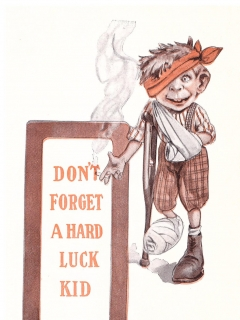 "1910's MAD MAGAZINE Alfred E. Neuman ""Don't forget a hard luck kid"""