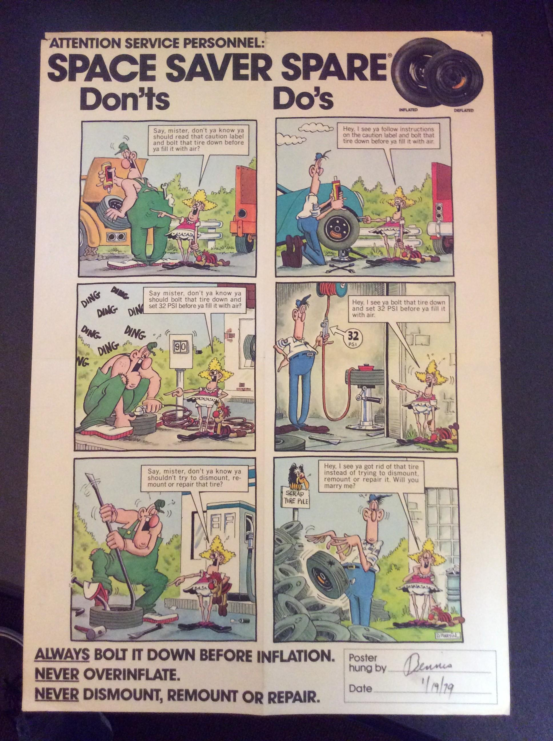 Don Martin BF Goodrich Service Station Poster • USA