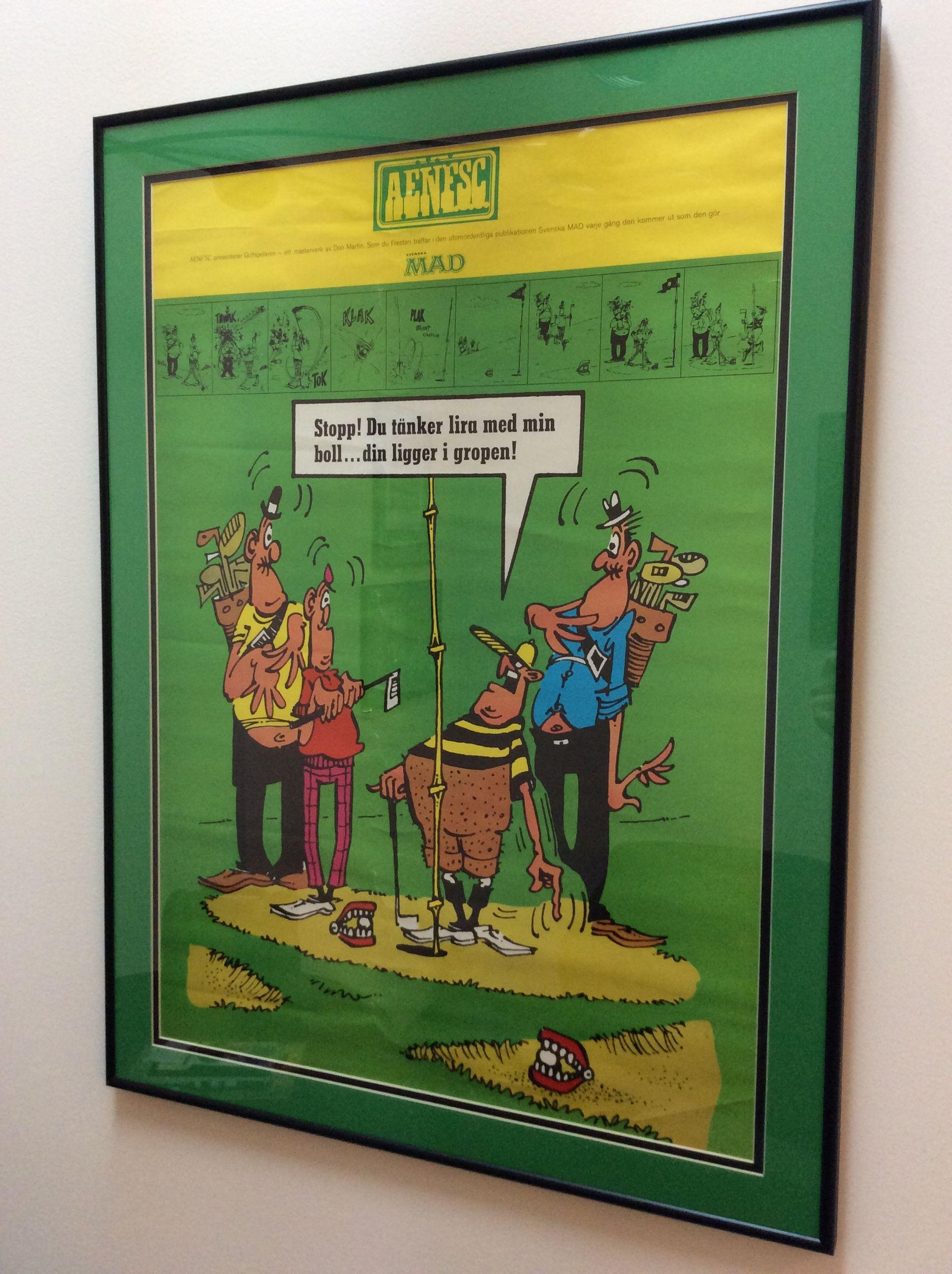 Poster MAD Fan Club Don Martin • Sweden